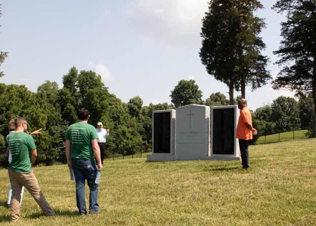 Talk at monument