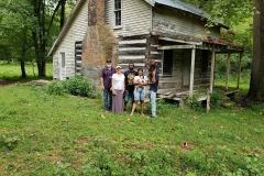 Gardners at Restored Slave Cabin
